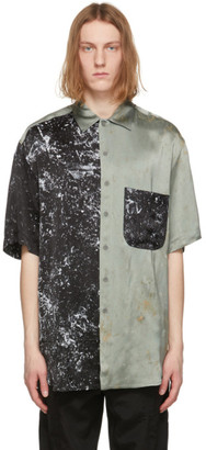 Song For The Mute Black and Green Oversized Splatter Shirt
