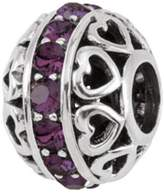 Persona Sterling Silver Austrian crystals February Charm Bead Fits European Charm Bracelets