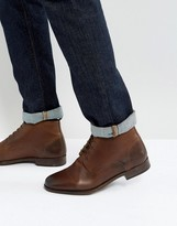 Asos Chukka Boots In Brown Leather