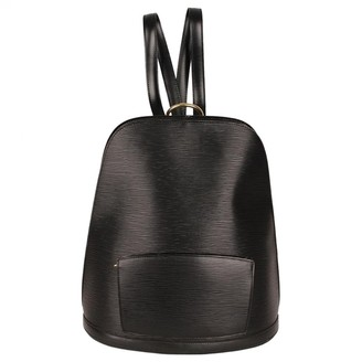 Louis Vuitton Gobelins Vintage Black Leather Backpacks