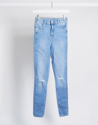 Dr. Denim Moxy sky high super skinny jeans with ripped knees
