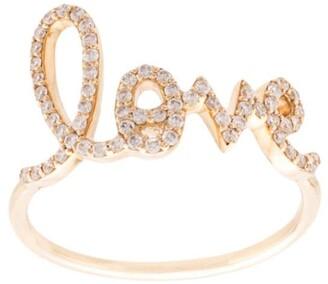 Sydney Evan 14kt Yellow Gold Large Diamond Love Ring