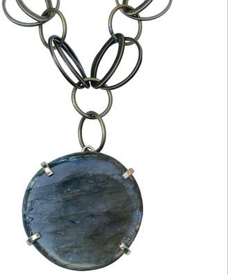 Tiana Jewel Spirit Of Heart Labradorite Gemstone Necklace Circles Silver