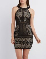 Charlotte Russe Lace Panel Bodycon Dress