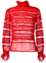 Isabel Marant transparent panel lace blouse