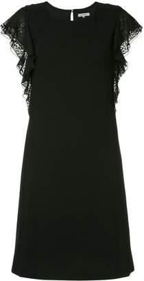 GUILD PRIME leopard print trim dress