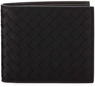 Bottega Veneta Men's Basic Woven Leather Wallet