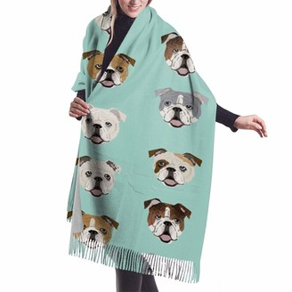 Gong Stupid Funny English Bulldog Cashmere Scarf Pashmina Shawls Wraps Women Warm Winter More Thicker Scarves