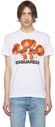 DSQUARED2 White Cool Fit Graphic T-Shirt
