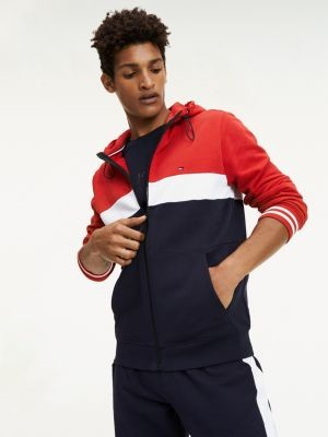 Tommy Hilfiger Pure Cotton Colour-Blocked Hoody