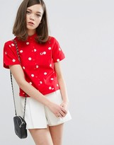 Fred Perry Amy Winehouse Foundation Polka Dot Bowling Shirt