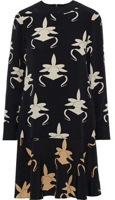 Tibi Printed Silk-crepe Dress