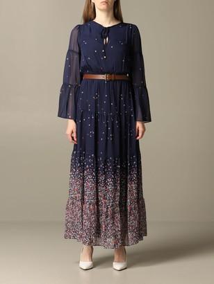MICHAEL Michael Kors Dress Long Dress With Belt