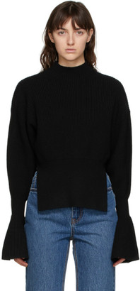 Alexander Wang Black Engineered Rib Sweater