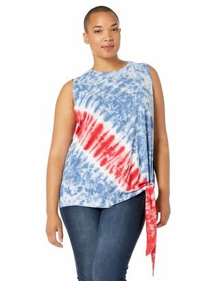 Chaps Women's Plus Size Sleeveless Cotton Blend Top