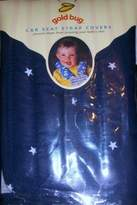 Gold Bug Baby Toddler Car Seat Strap Covers Navy with White Stars Pattern by