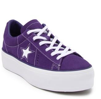 Converse Chuck Taylor One Star Suede Platform Oxford Sneaker (Women)
