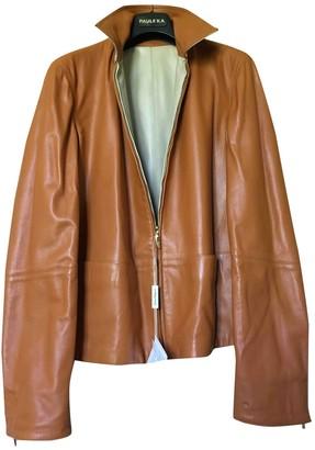 Salvatore Ferragamo Camel Leather Jackets