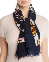 Tory Burch Printed T-Logo Square Scarf