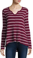 Arizona Long-Sleeve Waffle Swing Top - Juniors
