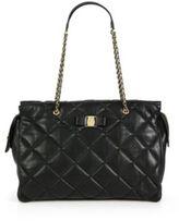 Salvatore Ferragamo Ginette Vara Quilted Leather Shoulder Bag