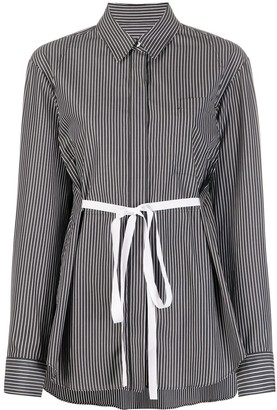 MM6 MAISON MARGIELA Striped Belted Shirt