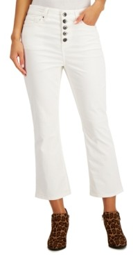 Style&Co. Style & Co Corduroy Flared Button Pants, Created for Macy's