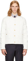 Thom Browne White Down Button Front Jacket
