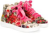 MonnaLisa floral hi-top sneakers
