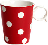 JCPenney Red Vanilla Freshness Dots Coffee Mug
