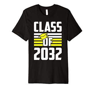 with me. Graduation Class Of 2032 Grow First Day Of School Premium T-Shirt