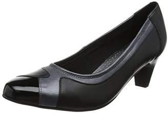 Padders Women's Jewel Closed-Toe Heels, Multicolour (Navy Pearl Multi), 39 EU