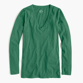 J.Crew Vintage cotton long-sleeve V-neck T-shirt