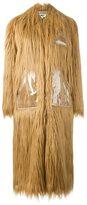 MM6 MAISON MARGIELA faux fur oversized coat