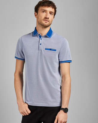 Ted Baker MIGHTIE Flat knit polo top