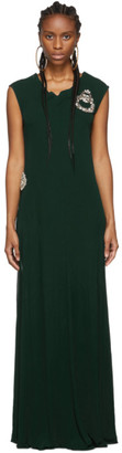 J.W.Anderson Green Drape Jersey Dress