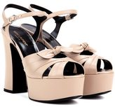 Saint Laurent Candy 80 leather platform sandals