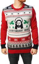 Ugy Christmas Sweater Men's Jesus Birthday Boy Sweater-arge