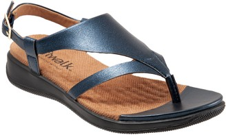 SoftWalk Adjustable Leather Thong Sandals - Temara