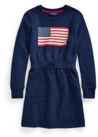 Polo Ralph Lauren Big Girls Flag Fleece Dress