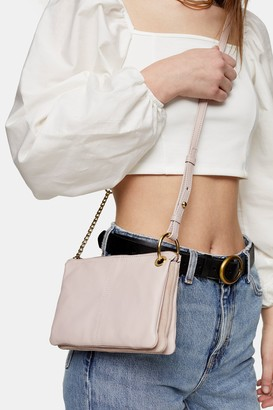 Topshop LILY Pink Soft Leather Cross Body Bag