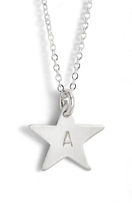 Nashelle Sterling Silver Initial Mini Star Pendant Necklace