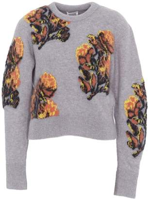 Chloé Floral Print Knitted Sweater