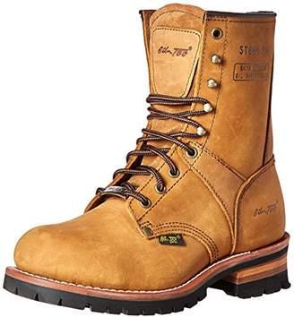 """AdTec 9"""" Super Logger Steel Toe Boots for Men"""