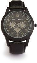 Perry Ellis Pebbled Strap Watch