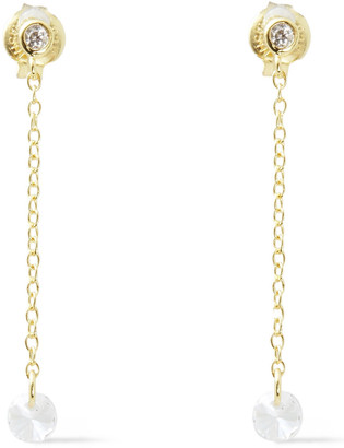 Shashi 18-karat Gold-plated Sterling Silver Crystal Earrings