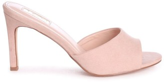 Linzi LOVE STORY - Nude Suede Mule With Stiletto Heel