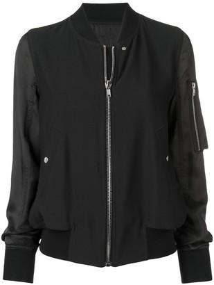 Rick Owens zipped bomber jacket