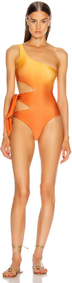 Jonathan Simkhai Ombre Cutout Swimsuit in Amber Ombre | FWRD