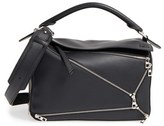 Loewe 'Puzzle Zips' Calfskin Leather Bag - Black